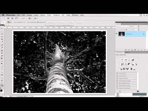 Hvid ramme med skygge i Photoshop - dansk tutorial - YouTube