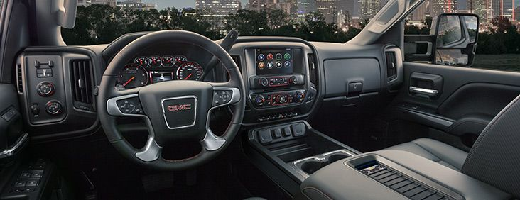 The 2016 Gmc Sierra 2500hd All Terrain Package Features A Heated Steering Wheel For Maximal Comfort While Driving Gmc Sierra Gmc Gmc Sierra 2500hd