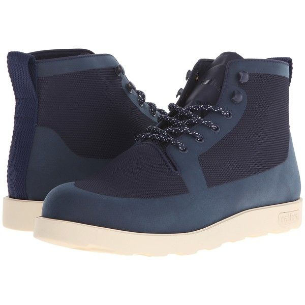 Native Shoes Fitzroy (Regatta Blue/Bone White) Lace-up Boots (87