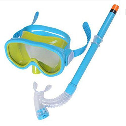 Dongcrystal Junior Swimming Scuba Anti Fog Goggles Snorkeling Set Mask and SnorkelLake Blue Goggles * Click image for more details.Note:It is affiliate link to Amazon.
