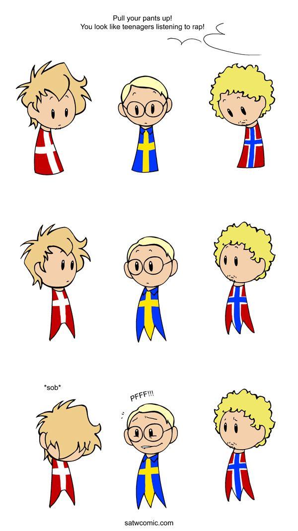 Well Endowned Scandinavia And The World Satw Comic Funny Comics Scandinavia