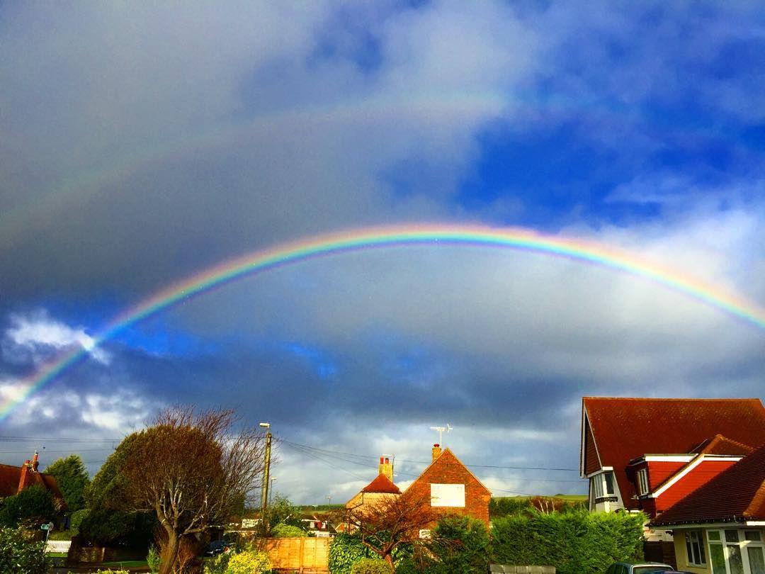 Double #rainbow taken today outside my front door #sussex
