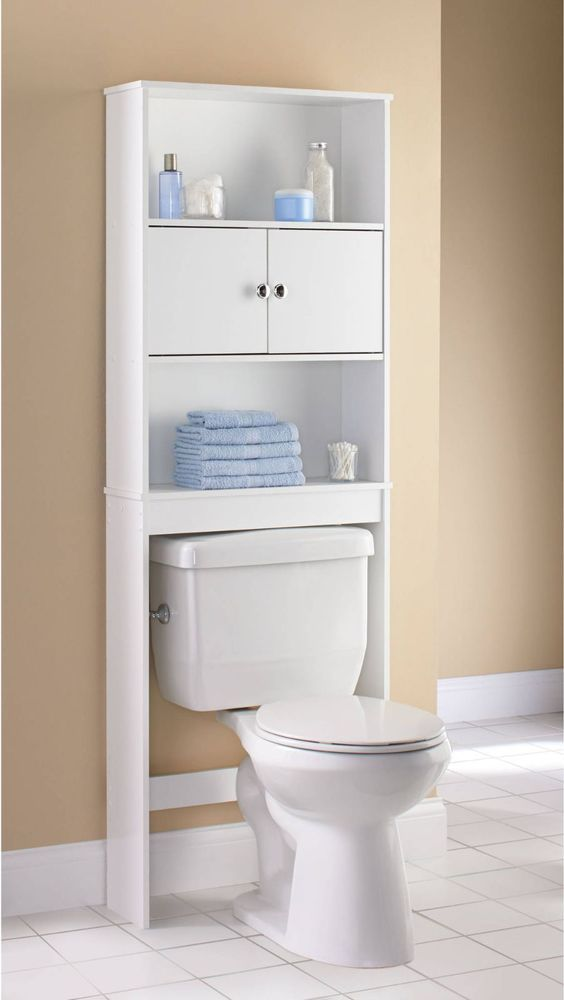 Over The Toilet Storage Shelf Cabinet Bathroom Space Saver Shelves White New In Home Garden Bath Bath Ca Bathroom Space Saver Bathroom Space Toilet Storage