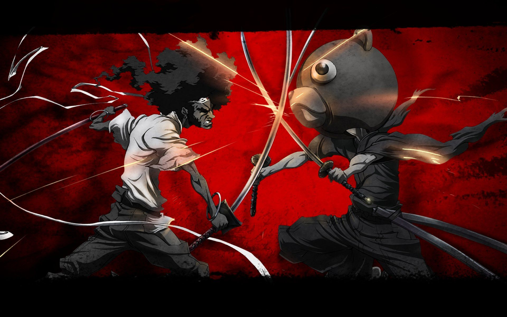 Epic Anime Fighting Wallpaper High Quality Resolution Afro Samurai Samurai Art Anime High resolution epic anime wallpaper hd
