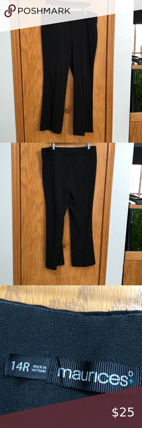 Women S Black Dress Pants From Maurices Women S Black Dress Pants 14 Regular But I Usually Get Tall A Black Dress Pants Womens Black Dress Pants Dress Pants [ 1740 x 580 Pixel ]
