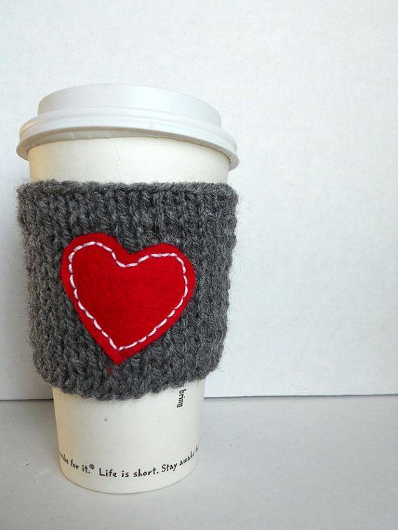 I love my coffee knitted coffee cup cozy wrist by HANDMADECOFFEE ...