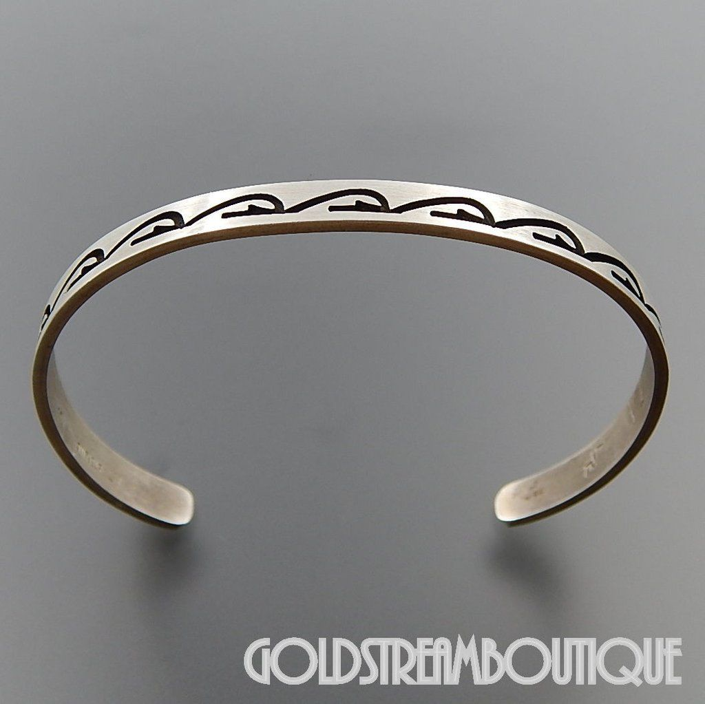 bangles custom thin sterling img styles cuff bracelet riechert products made message by bracelets silver bangle kathryn