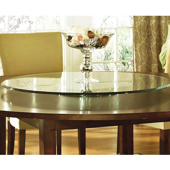 Large Round Dining Room Table With Lazy Susan