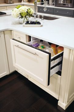 Refrigerator Drawer   Contemporary   Kitchen Cabinets   Other Metro   MasterBrand  Cabinets, Inc.