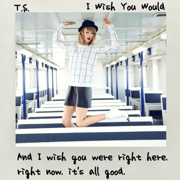I Wish You Would Single Cover Taylor Swift Album Taylor Swift Music Taylor Swift Music Videos