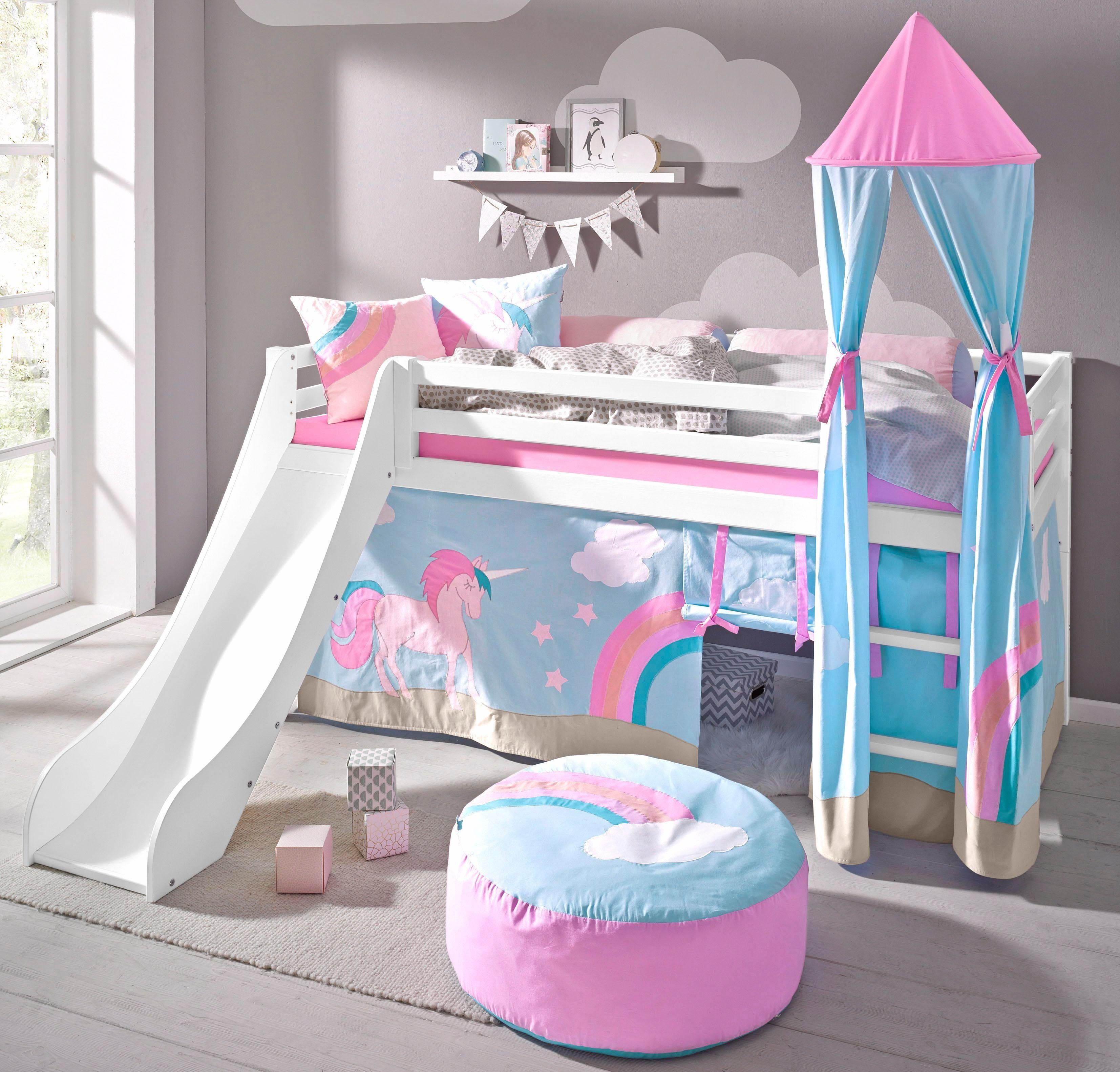 Unicorn bunk bed with slide Bunk bed with slide, Little