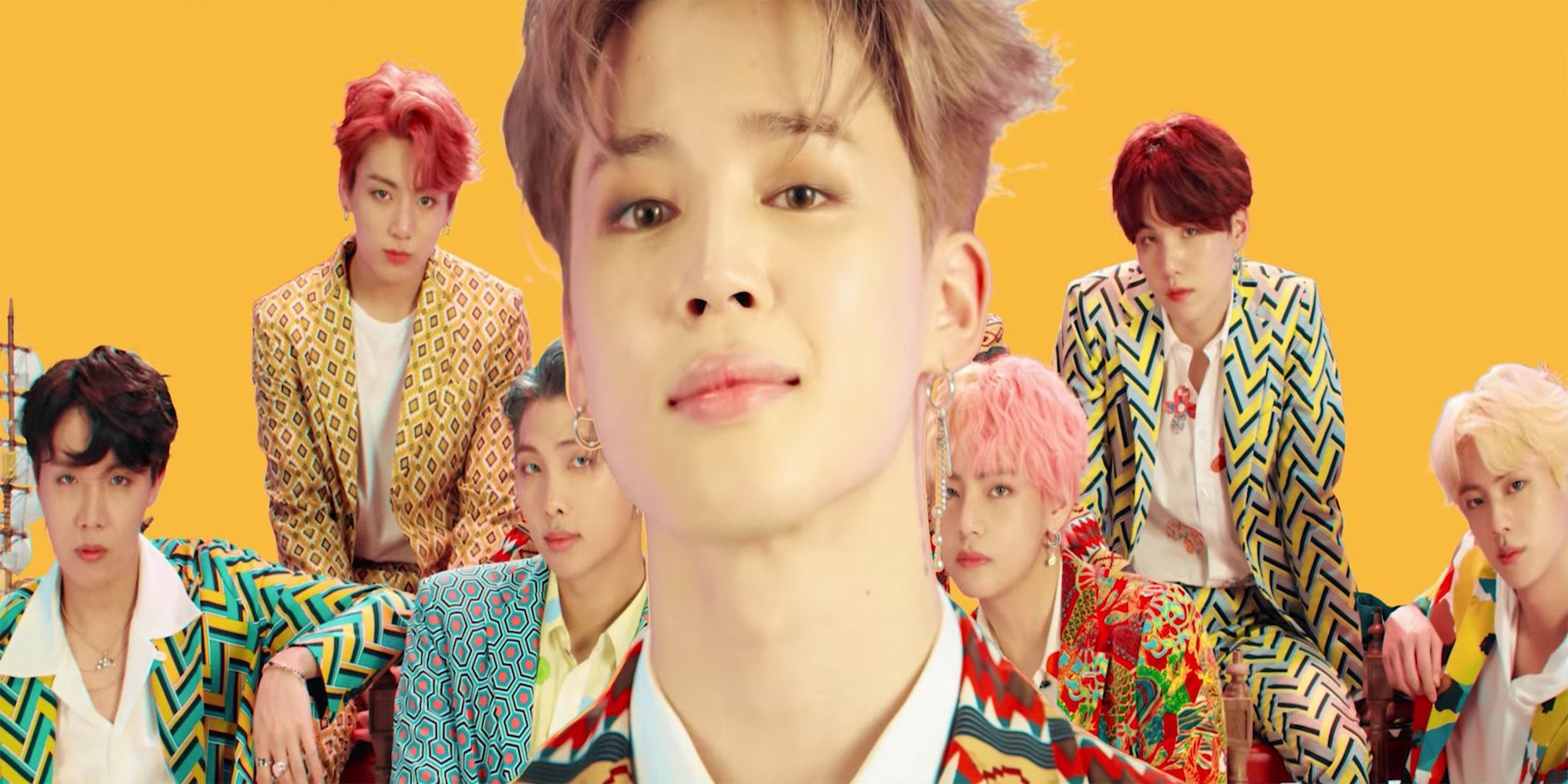 Bts New Music Video Features The K Pop Group S Best Hairstyles And Dye Jobs Yet Bts Jimin Jimin Park Jimin