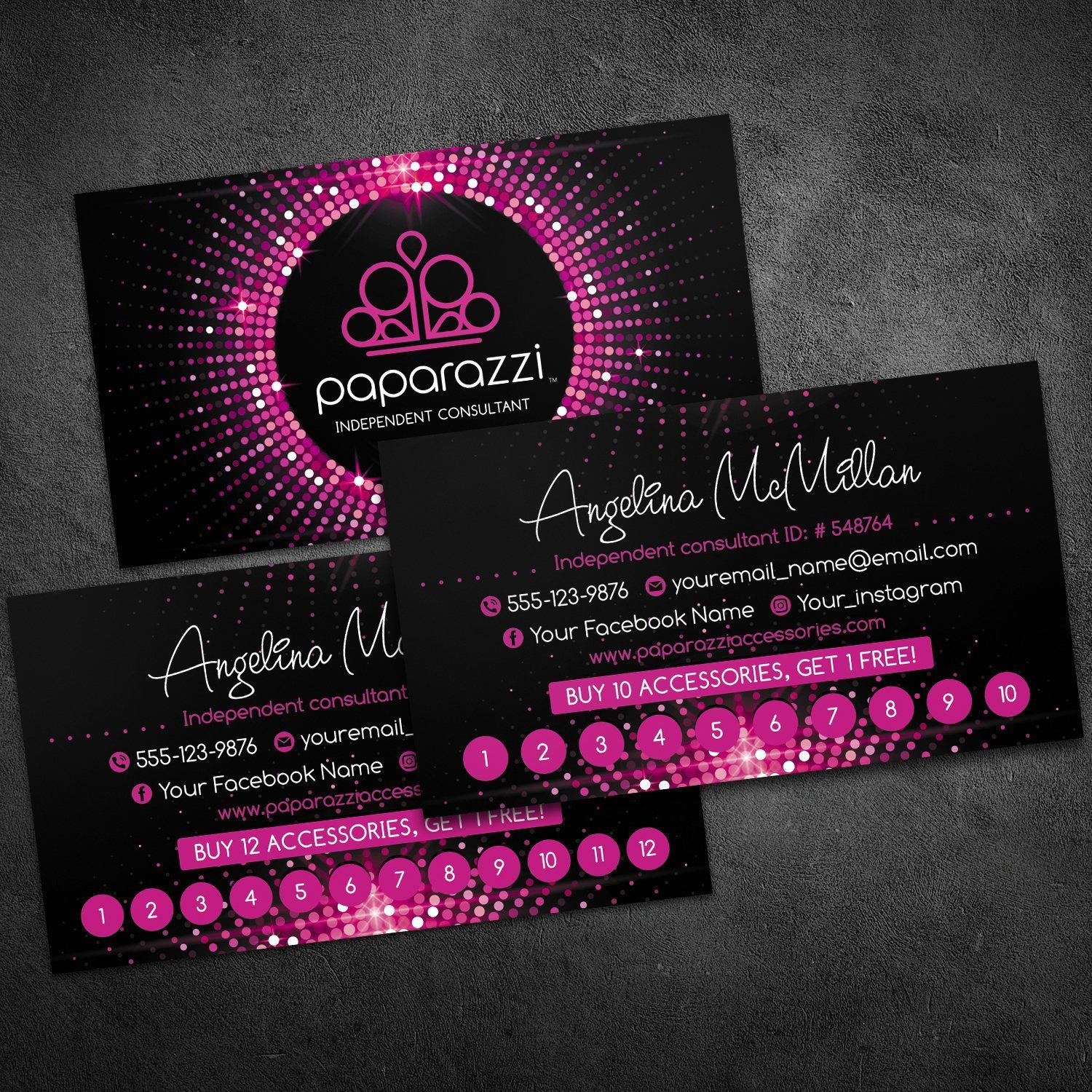 Paparazzi Business Cards Pink Paparazzi Business Cards Template