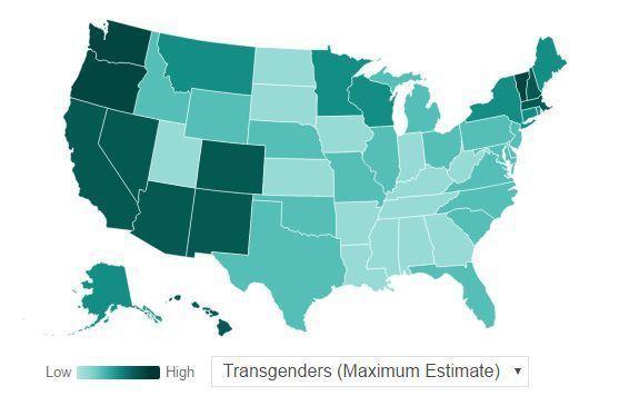 Interactive Maps Estimating the Transgender Population