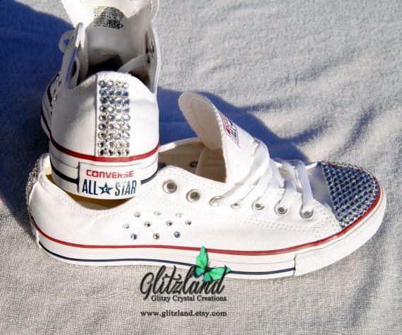 Swarovski Converse Chuck Taylor All Star Lo Sneaker Blinged with SWAROVSKI®  Crystals 48dd7136e