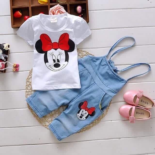 48edc0983fef9e CONJUNTO MACACÃO E BLUSA MINNIE, roupa infantil, moda infantil ...