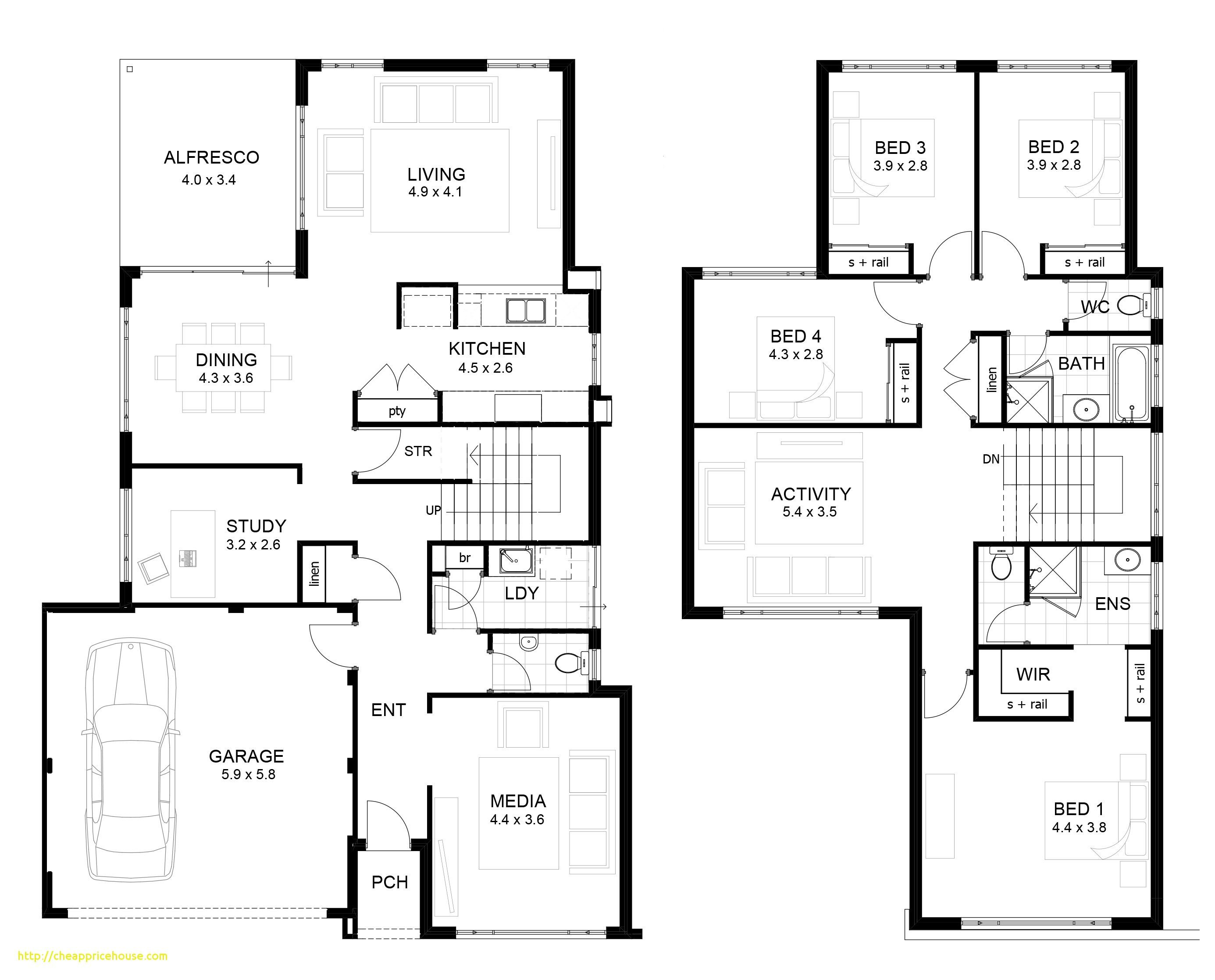 2 Storey House Plans Philippines With Blueprint Luxury Double Story Modern House Plans E Double Storey House Plans Two Storey House Plans House Plans Australia