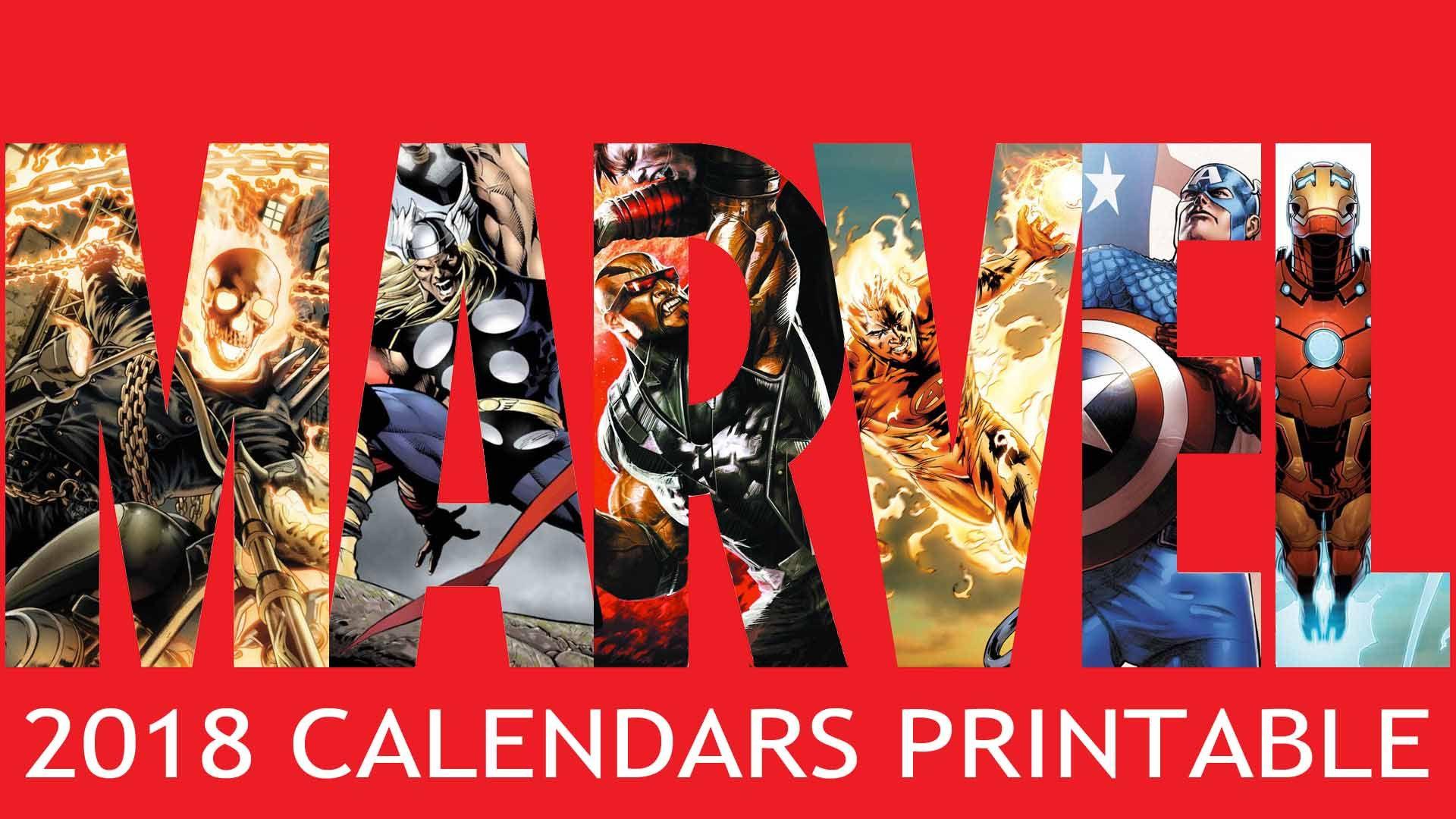Wallpaper Calendar Superhero : Marvel calendars printable