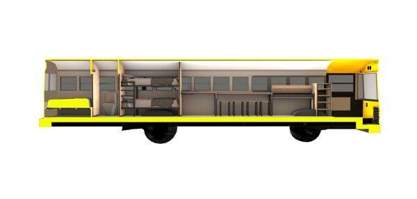 Skoolie RV Sample Floor Plans - School Bus