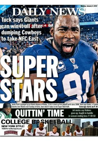 Super Stars #NYG Justin Tuck. I like the dunkin' the Cowboys part the best.