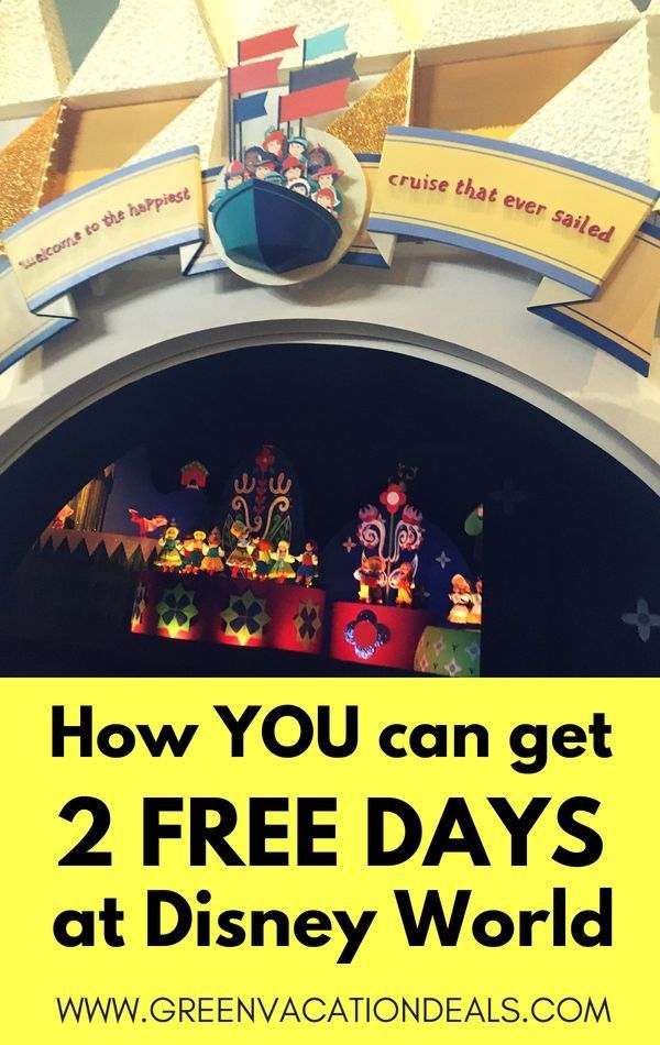 How To Get 2 Free Days At Disney World Disney World With Toddlers Walt Disney World Vacations Disney World Deals