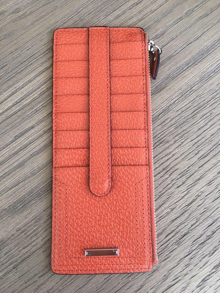 New Lodis Audrey Credit Card Case with Zipper Pocket Black w//White Trim One Size