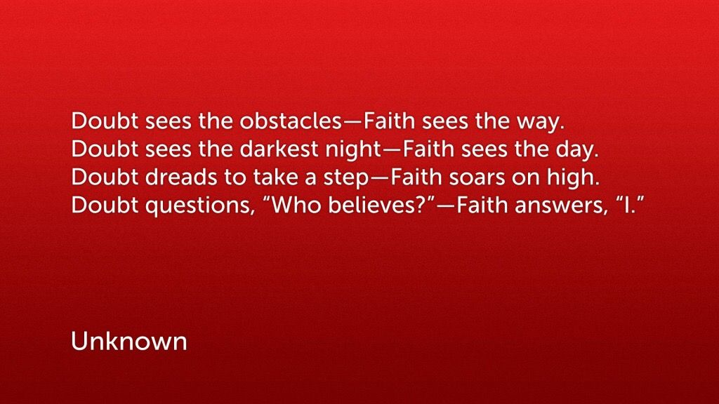 Without faith it is impossible to please God! Daily