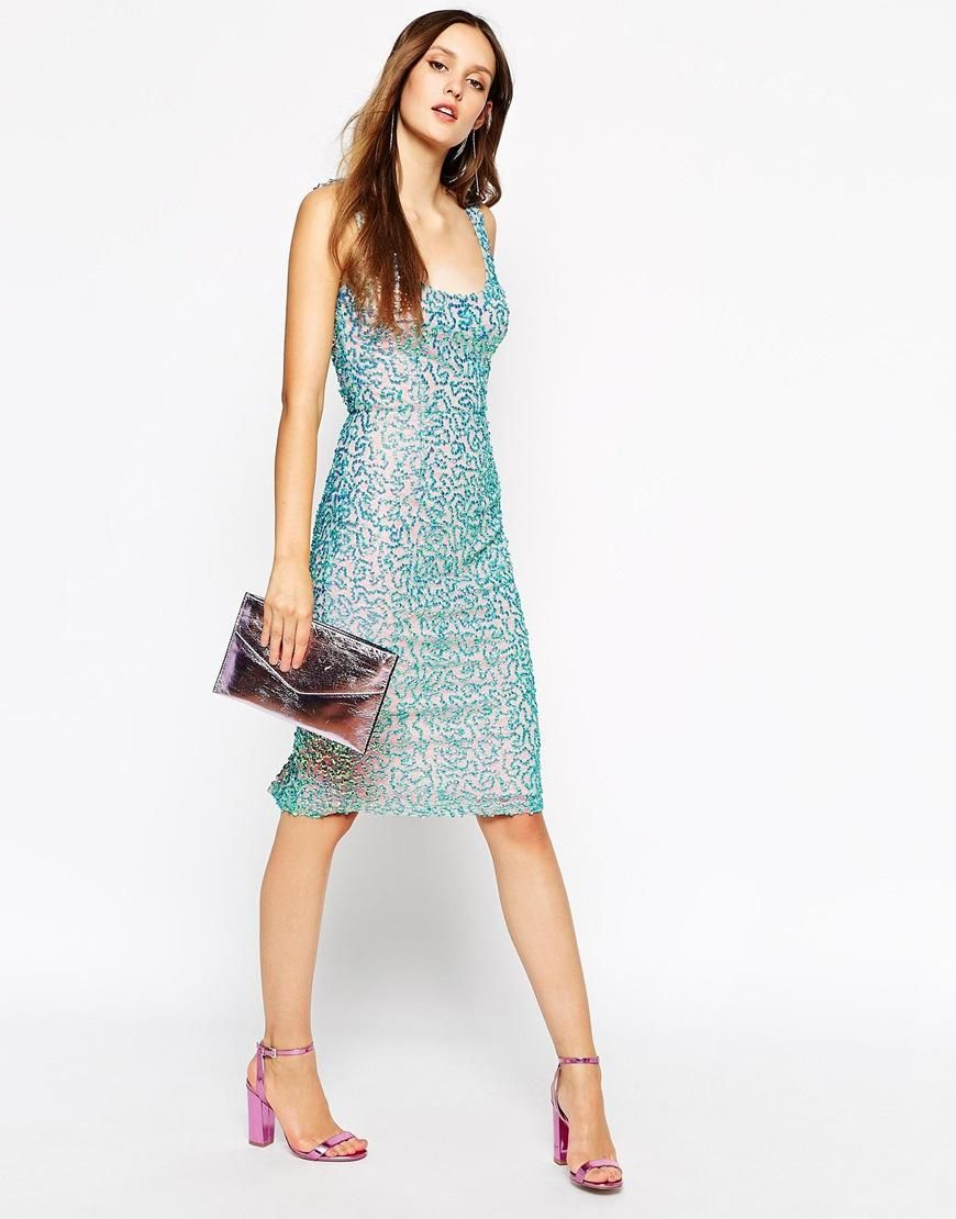 French Connection | French Connection Selene Sequin Mermaid Dress at ...
