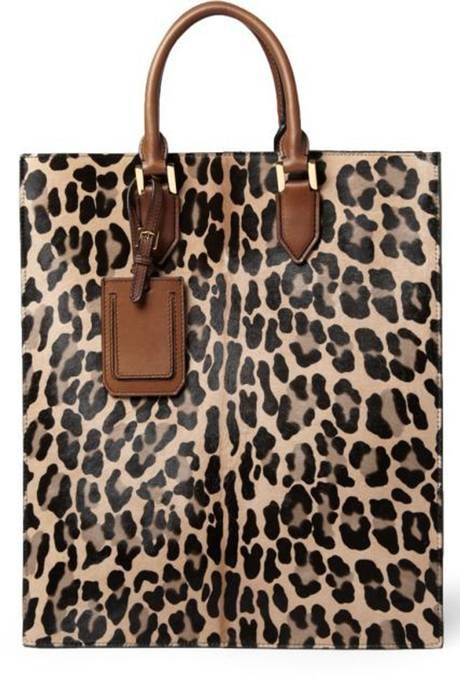 This season Burberry gives us this leopard-print tote in ponyskin.