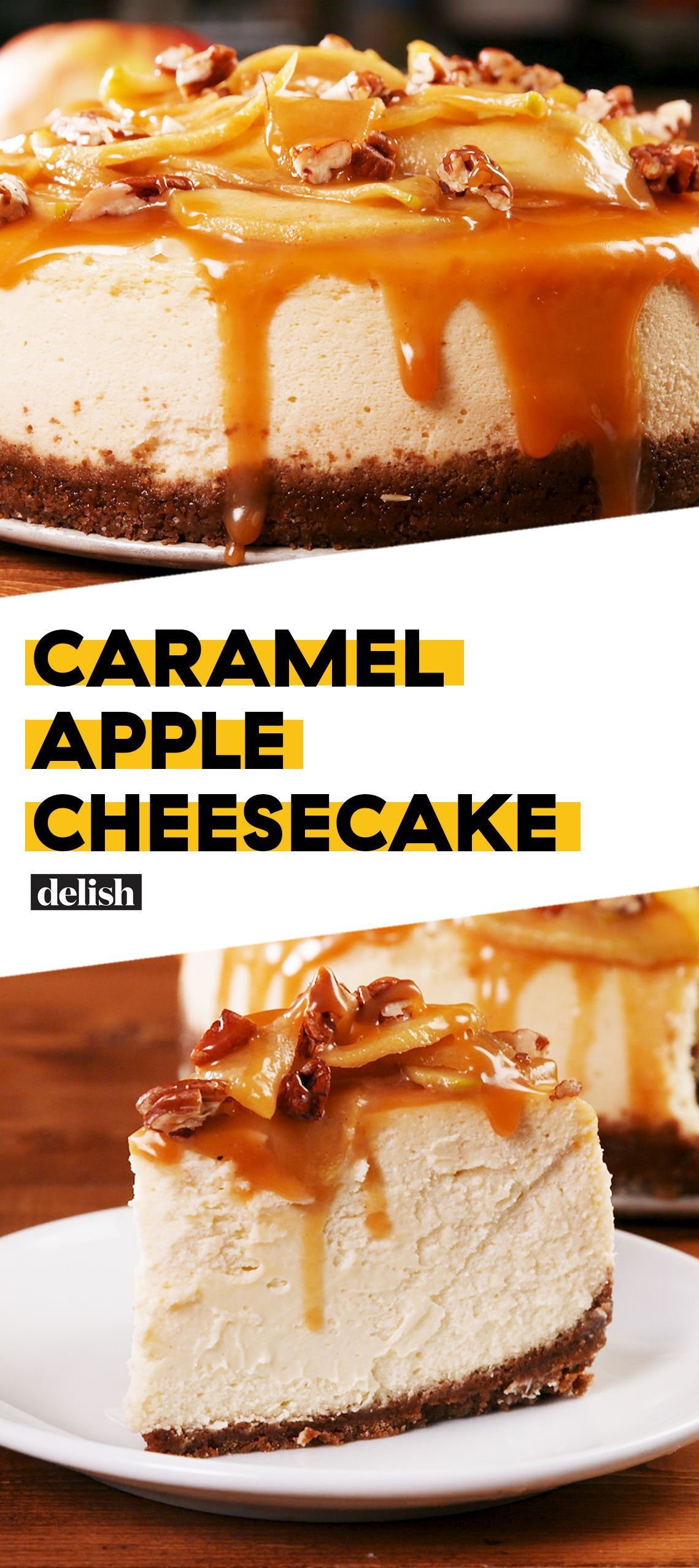 Caramel Apple Cheesecake = Fall Goals #caramelapplecheesecake