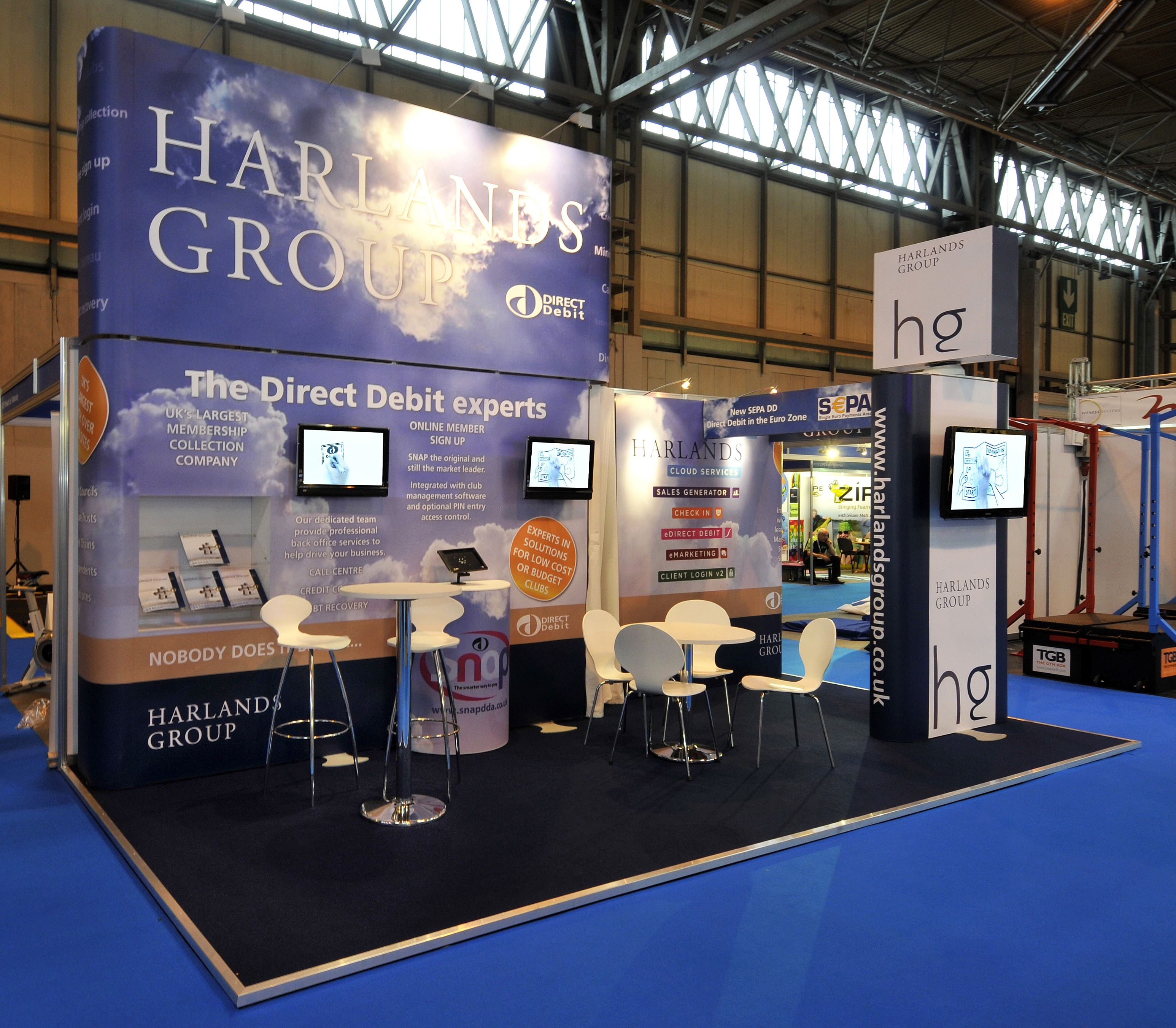Exhibition Stand Measurements : Exhibition stand for harlands group at leisure industry