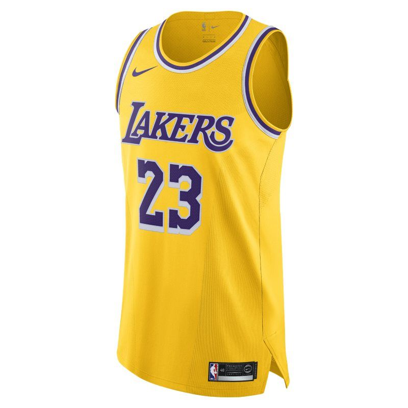 Lebron James Icon Edition Authentic Los Angeles Lakers Men S Nike Nba Connected Jersey Yellow Lebron James Los Angeles Lakers Basketball Shop