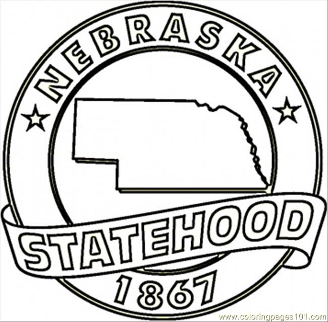 State Of Nebraska Map Coloring Page Nebraska Pinterest - Fun us states coloring map