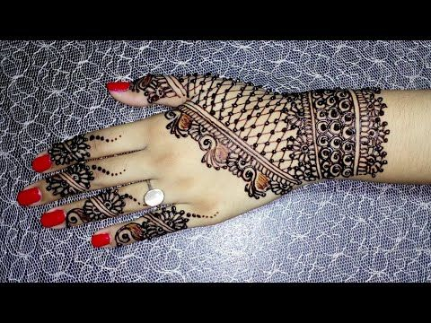Stylish mehndi design for girls   Easy heena design for hands   Elegent Mehndi With Tayyaba - YouTube