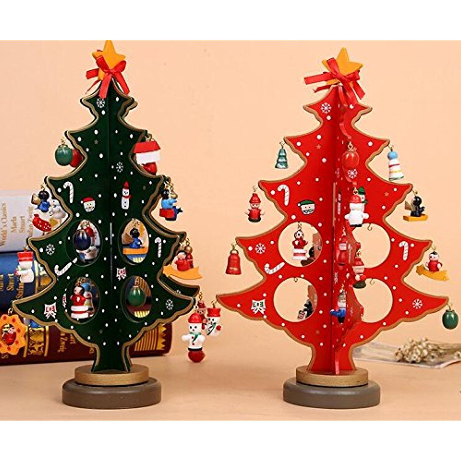 Christmas ornaments wooden christmas holiday gifts office