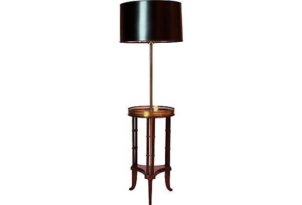 Floor lamp w drinks table on onekingslane 845 for the home floor lamp w drinks table on onekingslane 845 aloadofball Images