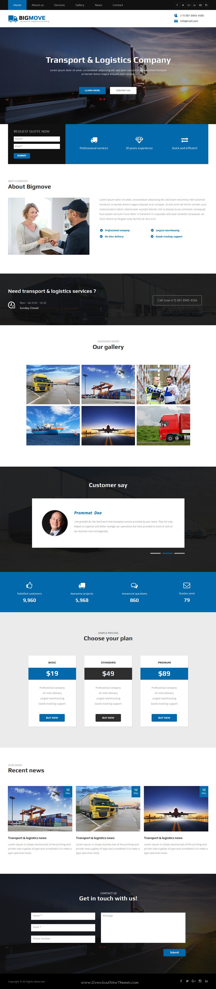 Big Move is beautiful #Muse template for transport, #logistics
