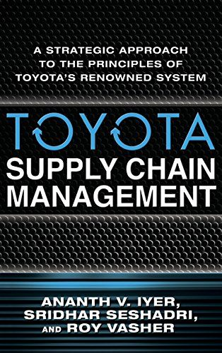 download free toyota supply chain management a strategic approach