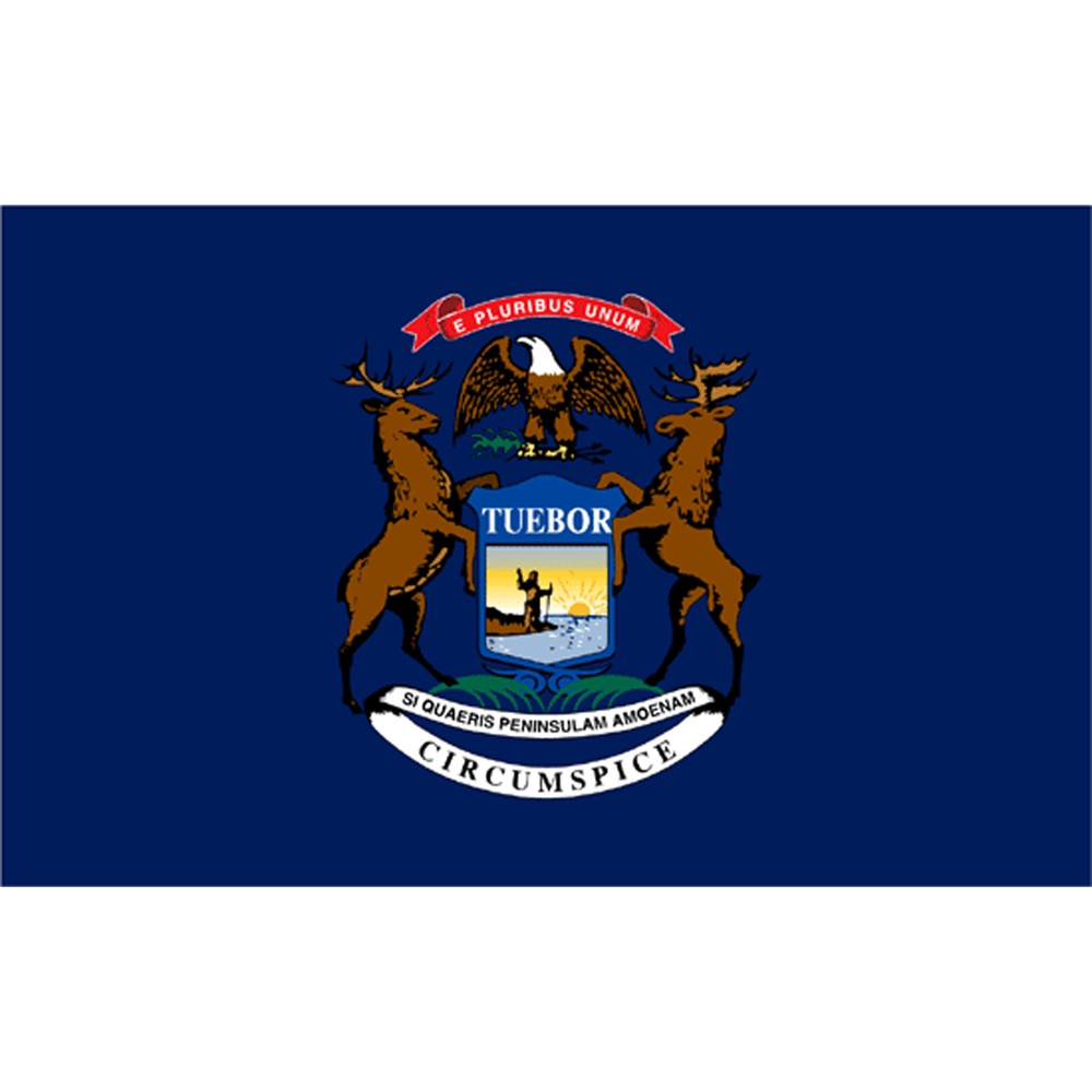 Michigan State Flag 3 X 5 In 2020 Michigan State Flag Michigan Flag Flag Coloring Pages
