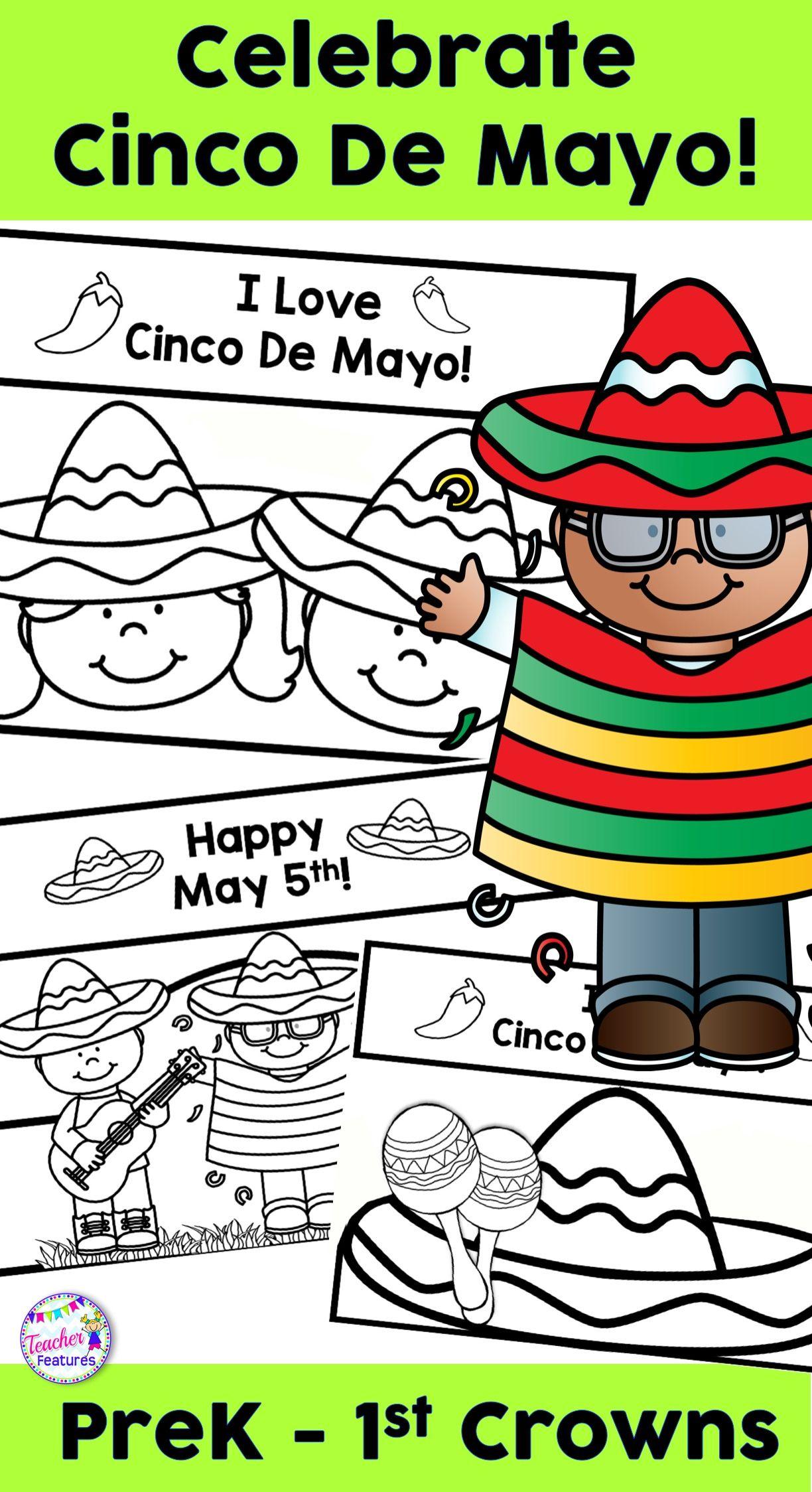 Cinco De Mayo Kindergarten Crowns Craft Hat Headband Crown Teacher Features Kindergarten Crown Kindergarten [ 2248 x 1224 Pixel ]