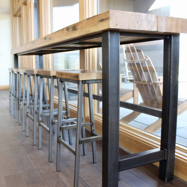 Magnificent Repurposed Beam Bar Bar Stools In 2019 Metal Furniture Creativecarmelina Interior Chair Design Creativecarmelinacom