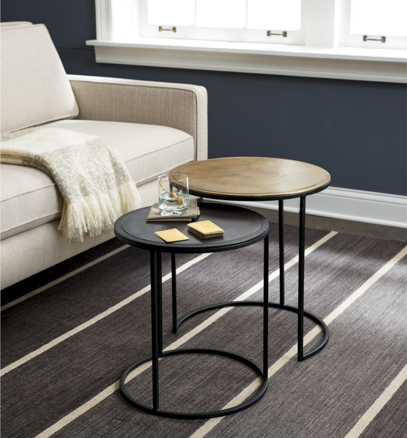 Knurl Nesting Accent Tables Set of Two Crate and Barrel