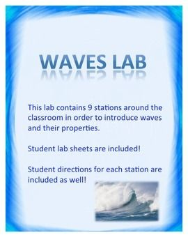 Waves Lab Includes Transverse And Longitudinal Waves