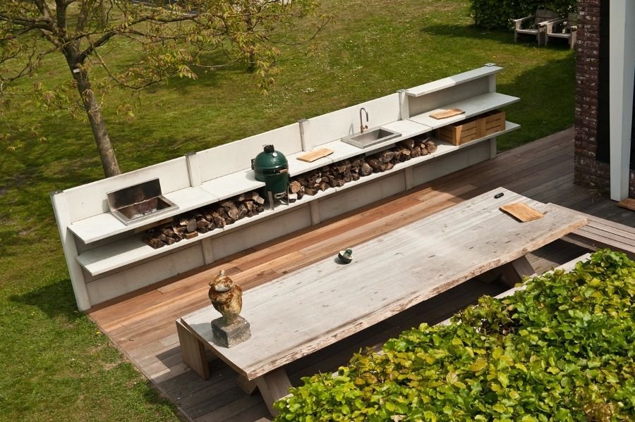 Another View Of The Concrete Kitchenclever Dutch Designers Cool Outdoor Kitchen Designers Inspiration Design