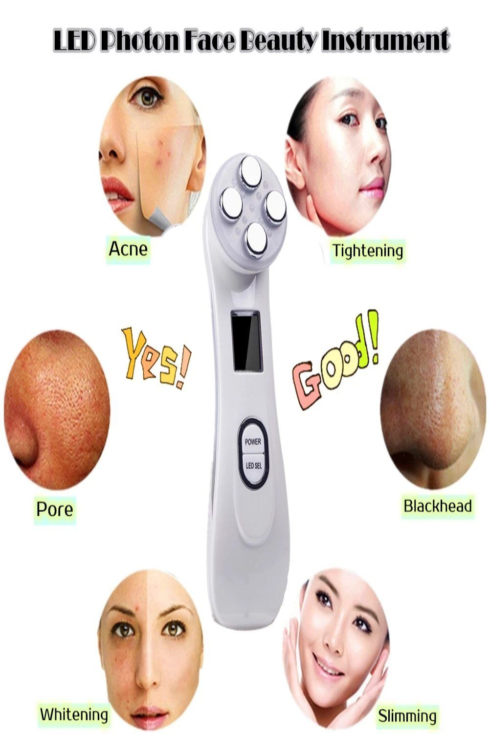 Facial Care Tool Radio Frequency LED Photon Face Beauty