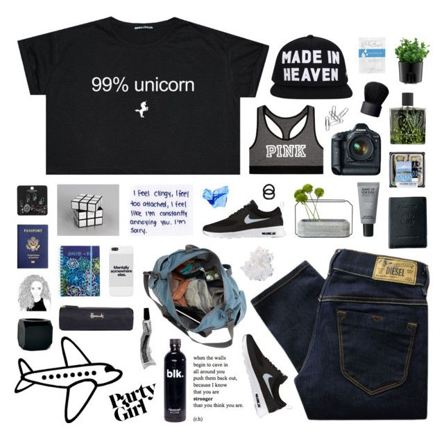 """• queen of every frickin thing *"" by girlsruleboysdrool ❤ liked on Polyvore featuring Seletti, Victoria's Secret, Royce Leather, Eos, Topshop, NIKE, John Lewis, Harrods, Vera Bradley and Spécimen Editions"