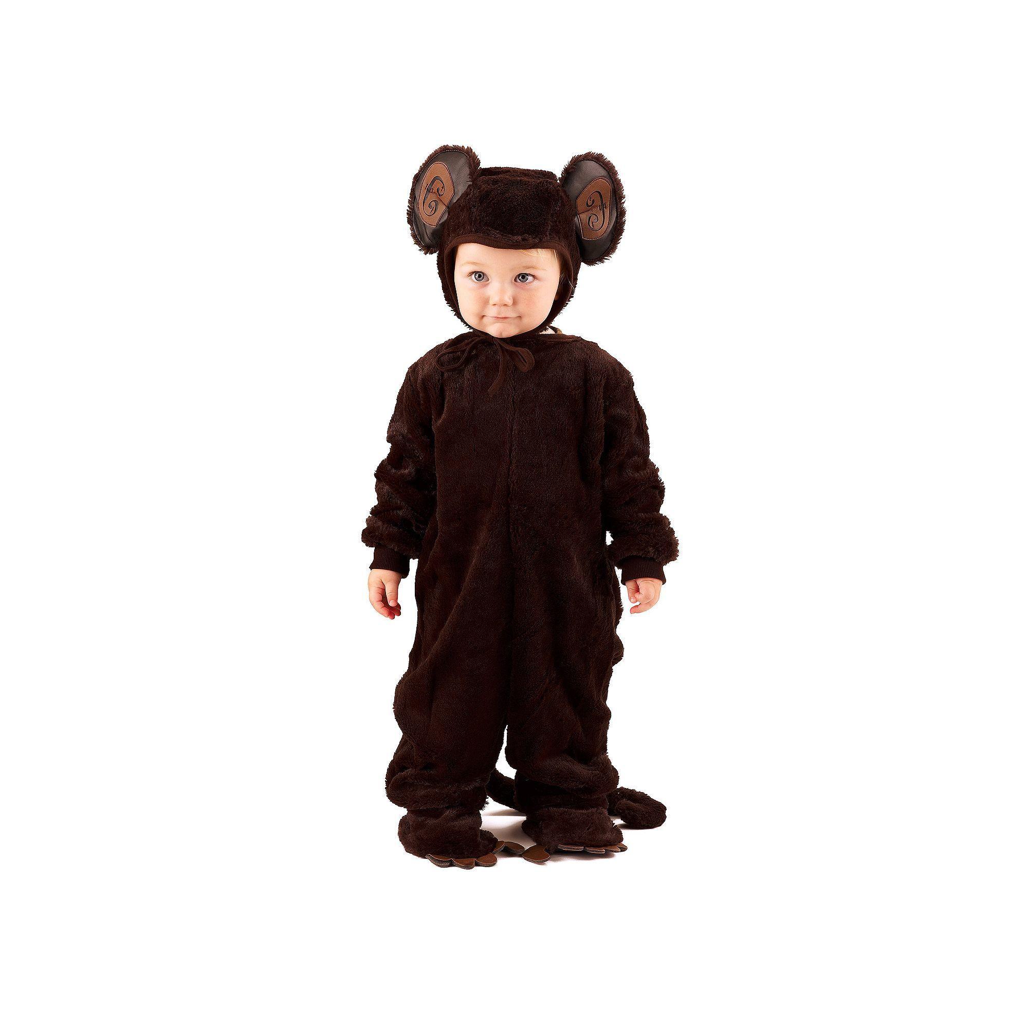 Plush Monkey Costume - Kids, Kids Unisex, Size: XS, Brown | Monkey ...