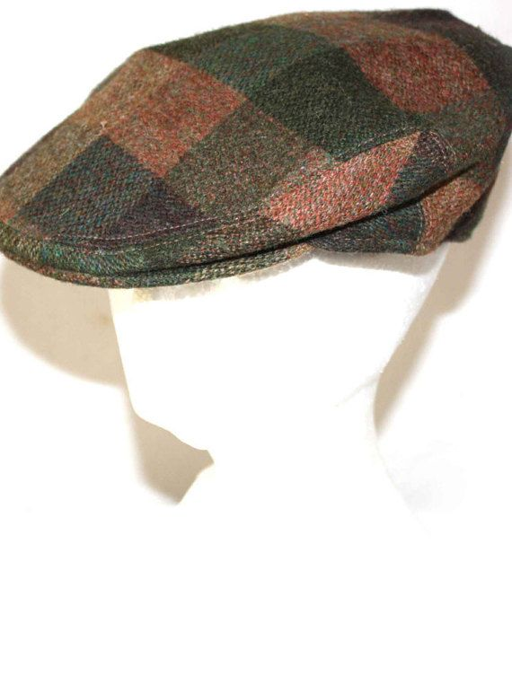 1c08fe514da Vintage Men s Plaid Hat KANGOL Wool Cap Made In England Newsboy Hat ...