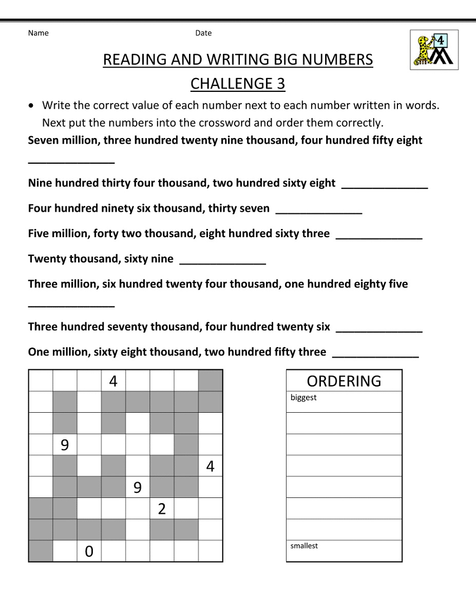 Free Homework Sheets to Print Writing worksheets, Math