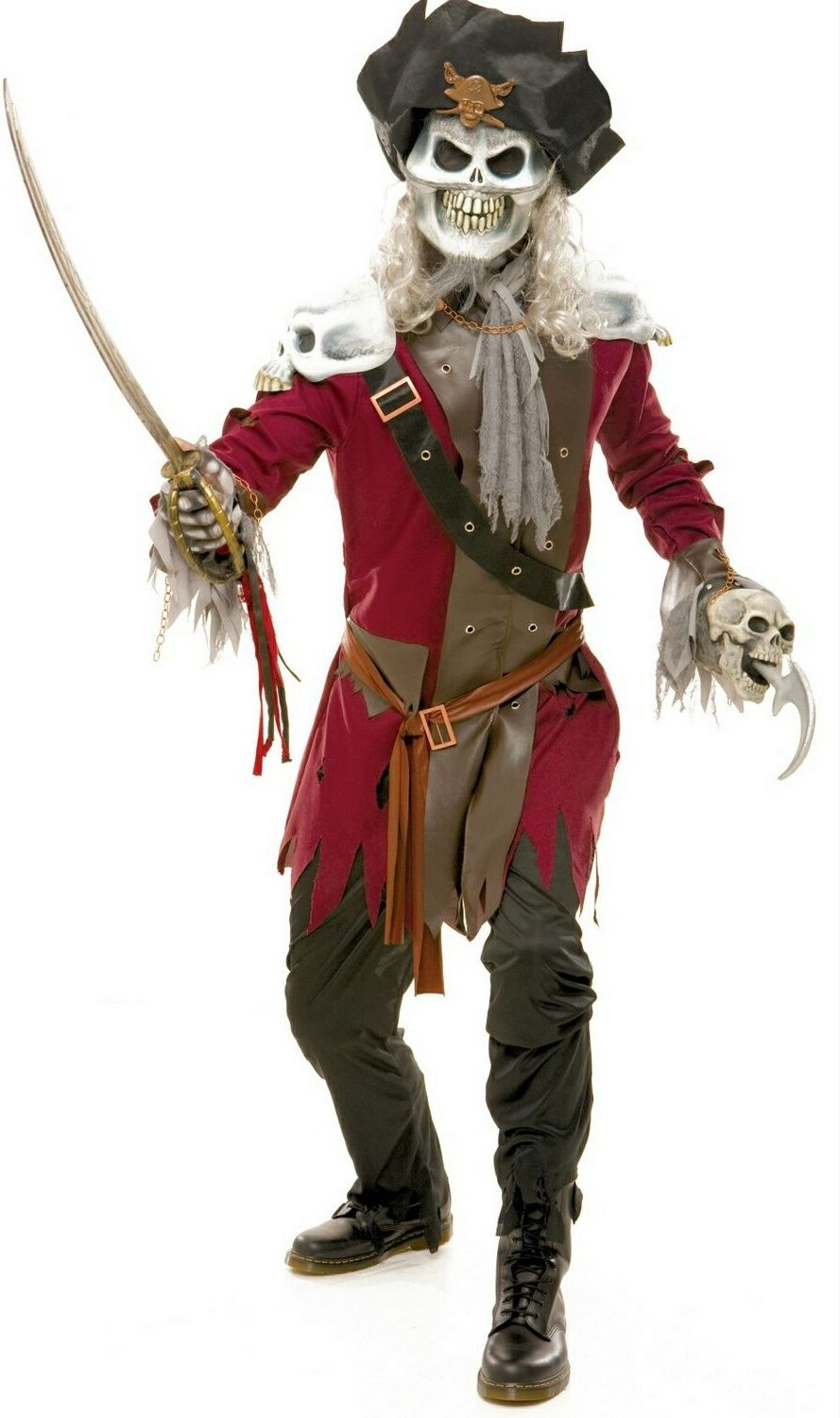 Halloween Costumes Scary Men.Pirate Costume For Men Wicked Neverland Captain Hook Costume